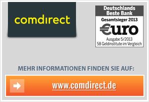 comdirect Tagesgeld Wechselgeld sparen mit VISA-Kreditkarte