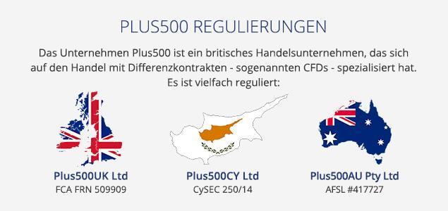 Plus500 Regulierungen