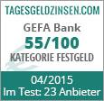 GEFA Bank Festgeld im Test
