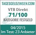 VTB Direkt Festgeld im Test