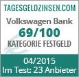 Volkswagen Bank Festgeld im Test