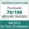 Postbank Tagesgeld im Test