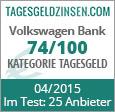 Volkswagen Bank Tagesgeld im Test