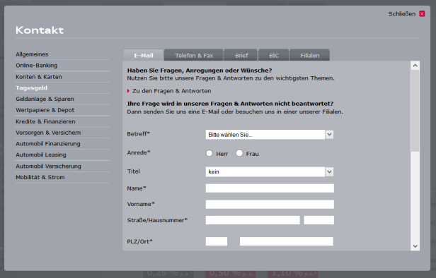 Audi Bank 2 (TG) - Kunden k+Ânnen sich auf verschiedene Wege an de...