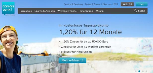 Tagesgeld Konto Zinsen Consorsbank