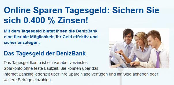 Tagesgeld DenizBank