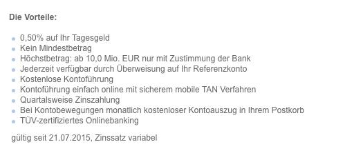 VTB Bank Zinsen