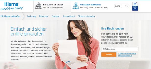 Einen ersten Überblick bekommt man auf der Webseite von Klarna