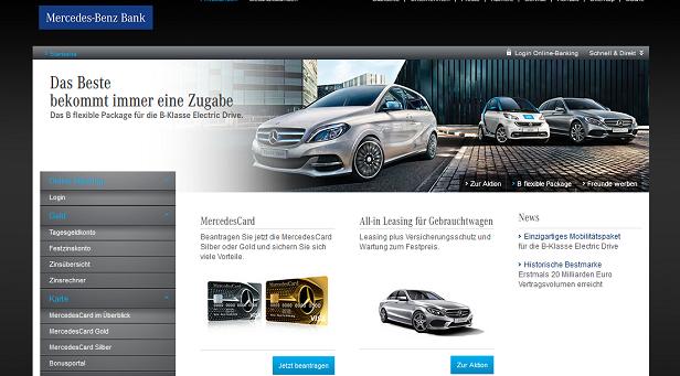 Einen ersten Überblick erhältst du auf der Internetseite der Mercedes Benz Bank