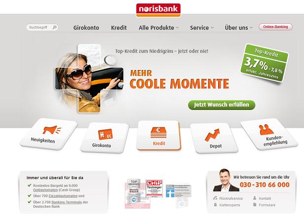 Bei der Norisbank hat man eine große Auswahl an verschiedenen Produkten