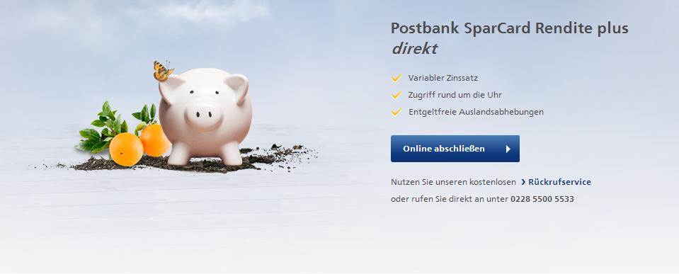 postbank sparcard erfahrungen