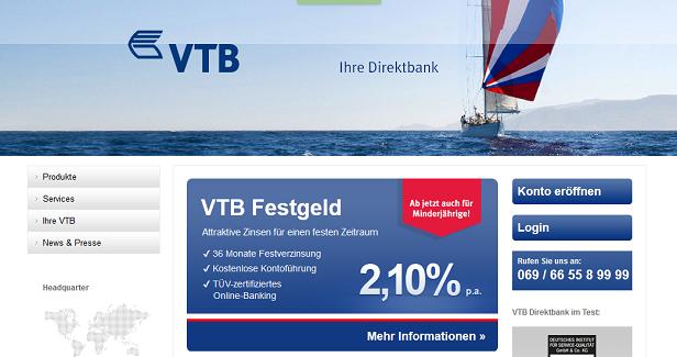vtb bank festgeld