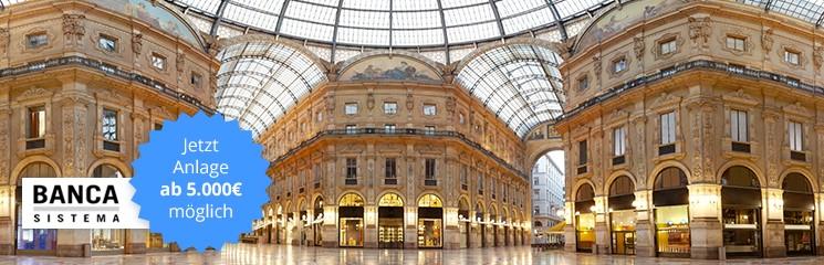 Ein Flexgeldkonto bereits ab 5.000 Euro Einlage in Italien – in der Banca Sistema