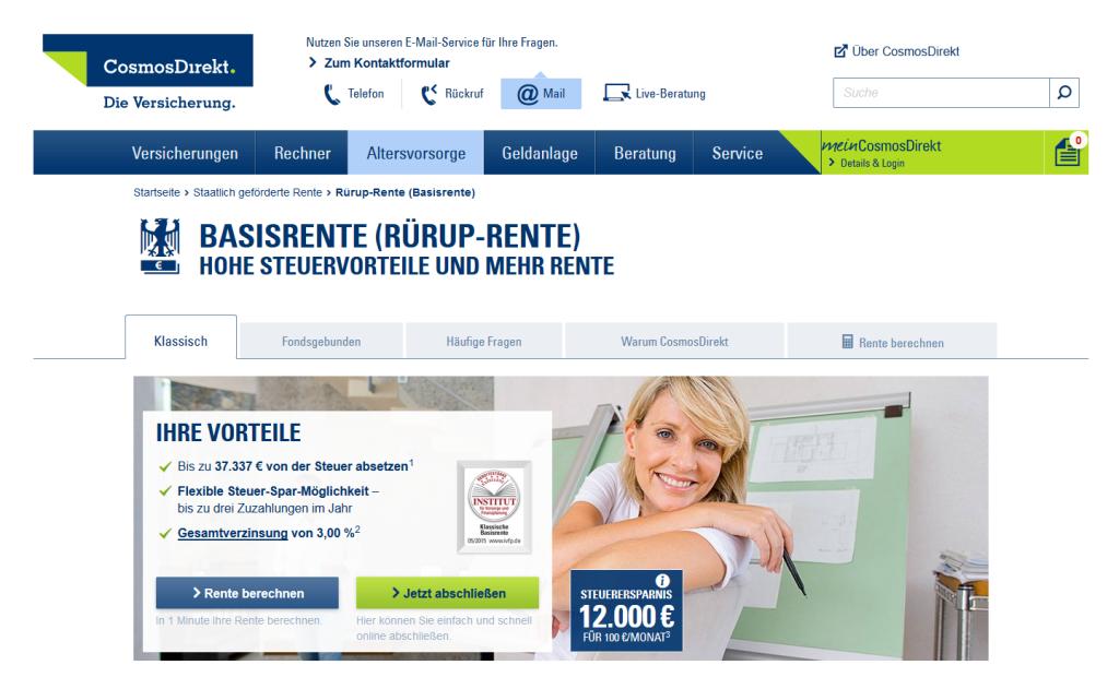 CosmosDirekt Rürup Rente Erfahrungen: Vorteile im Überblick