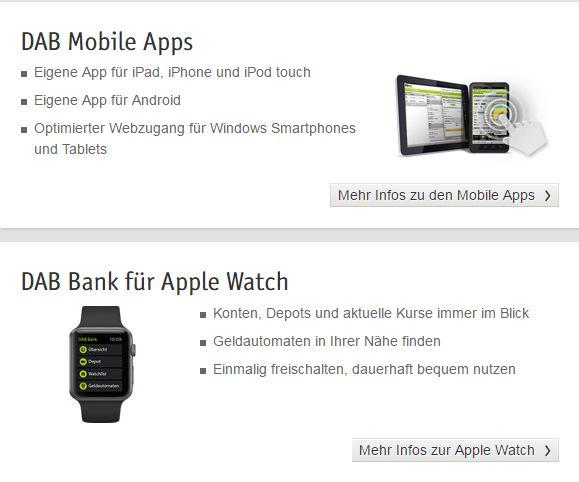 DAB Bank: Mobiles Banking