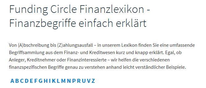 Das Finanzlexikon von A bis Z