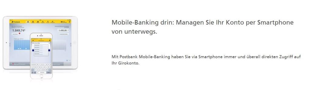 Postbank Girokonto Mobile Banking