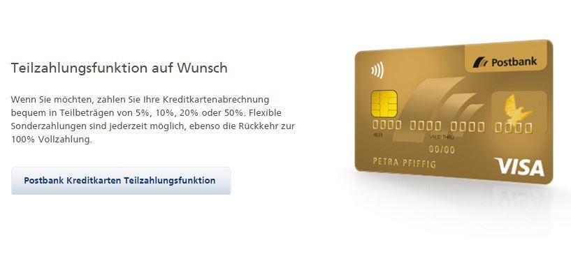 Postbank Kreditkarte VISA Card