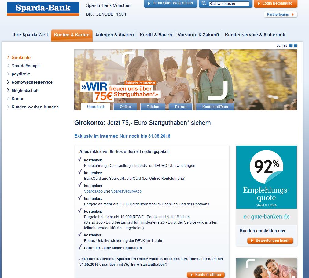 Sparda-Bank München Erfahrungen mit den Konditionen