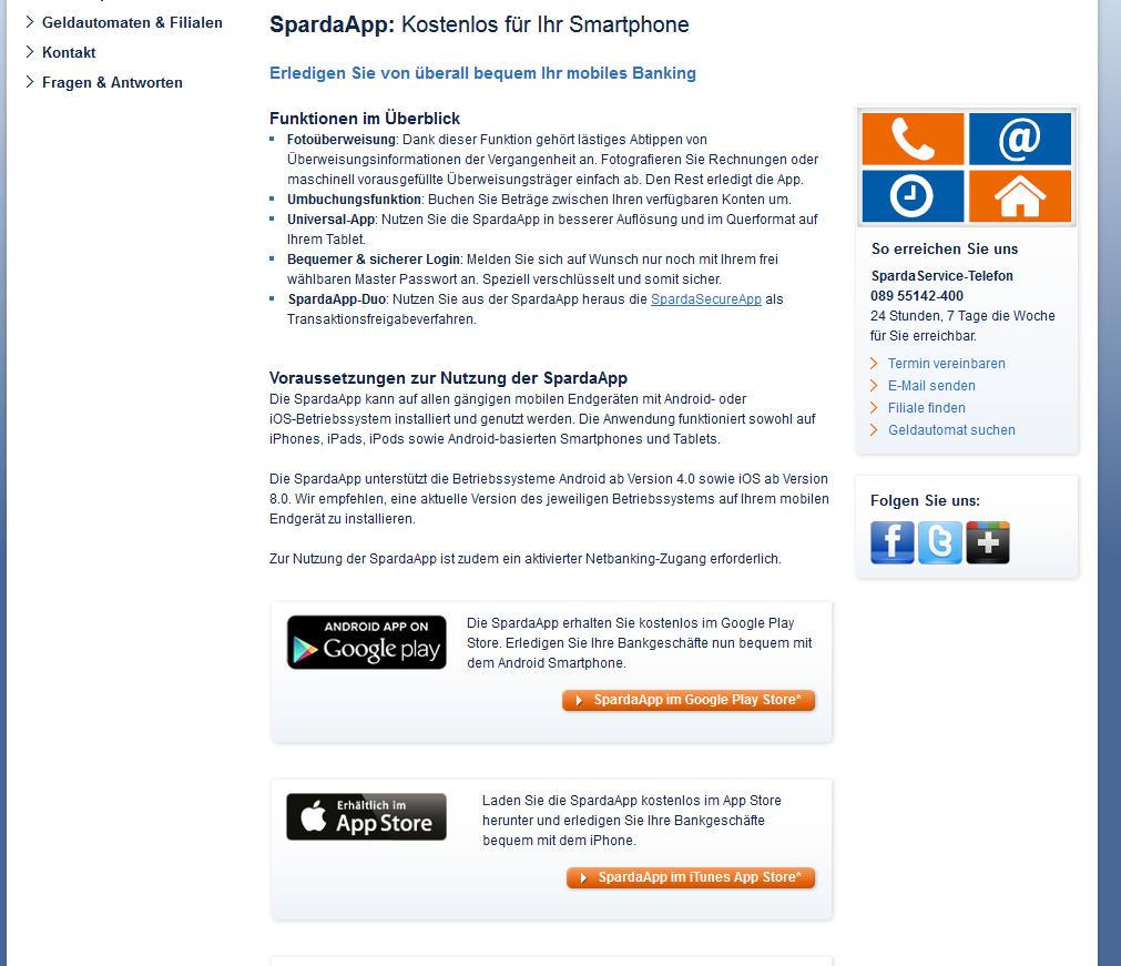Die Mobile Banking App der Sparda-Bank München