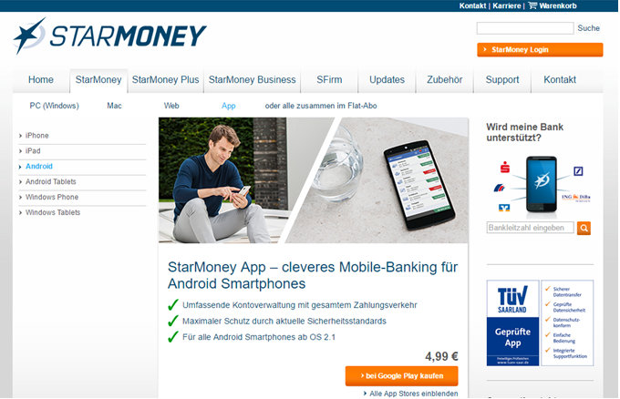 : Die Smartphone App für Android-Geräte von StarMoney