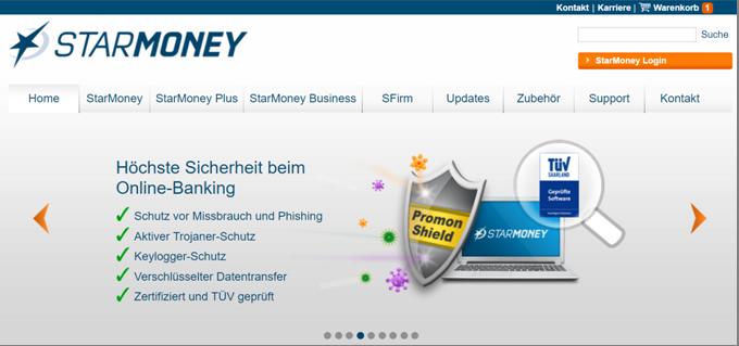 Promo Shield als Sicherheitssoftware von StarMoney