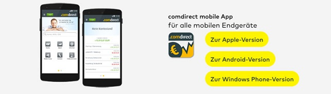 comdirect Mobiles Banking in der App