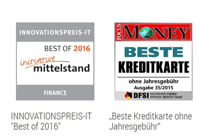 Fidor Bank Girokonto Auszeichnungen