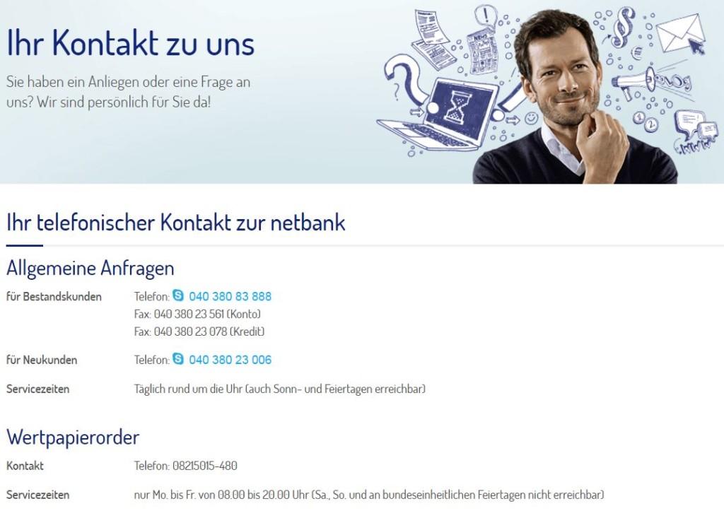 netbank Girokonto Kundenservice