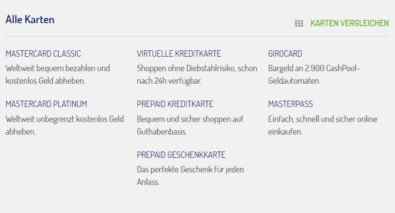 netbank Girokonto: Alle Karten im Überblick