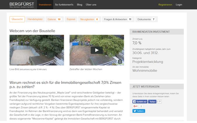 Ein Projektprofil bei Bergfürst