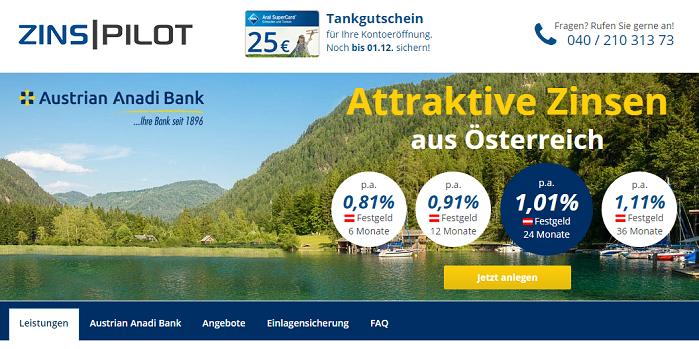 Austrian Anadi Bank Zinsen