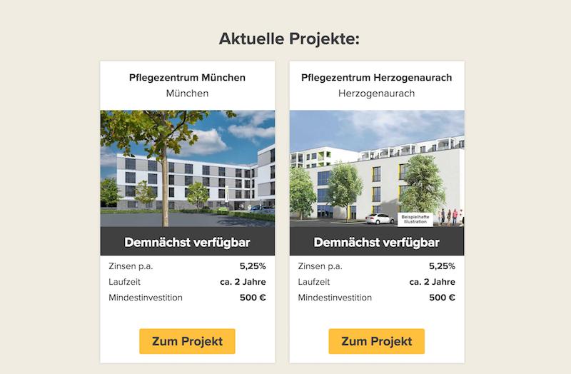 Zinsbaustein.de Projekte