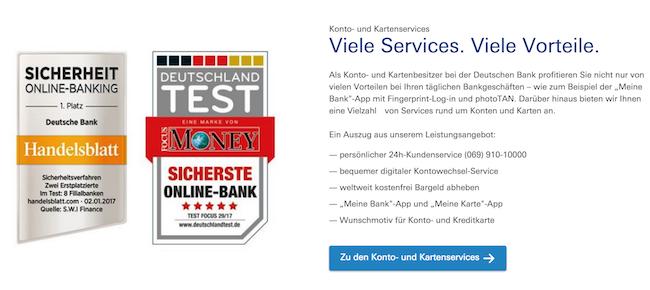 Deutsche Bank Girokonto Erfahrungen 2019 Jetzt Zum Testbericht