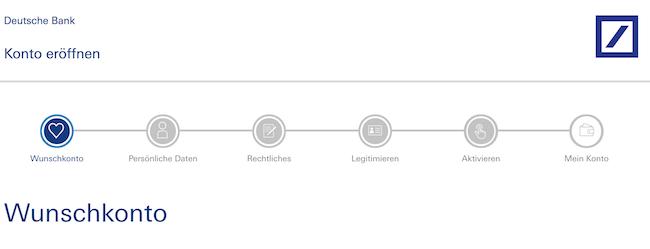 Deutsche Bank Girokonto Kontoeröffnung