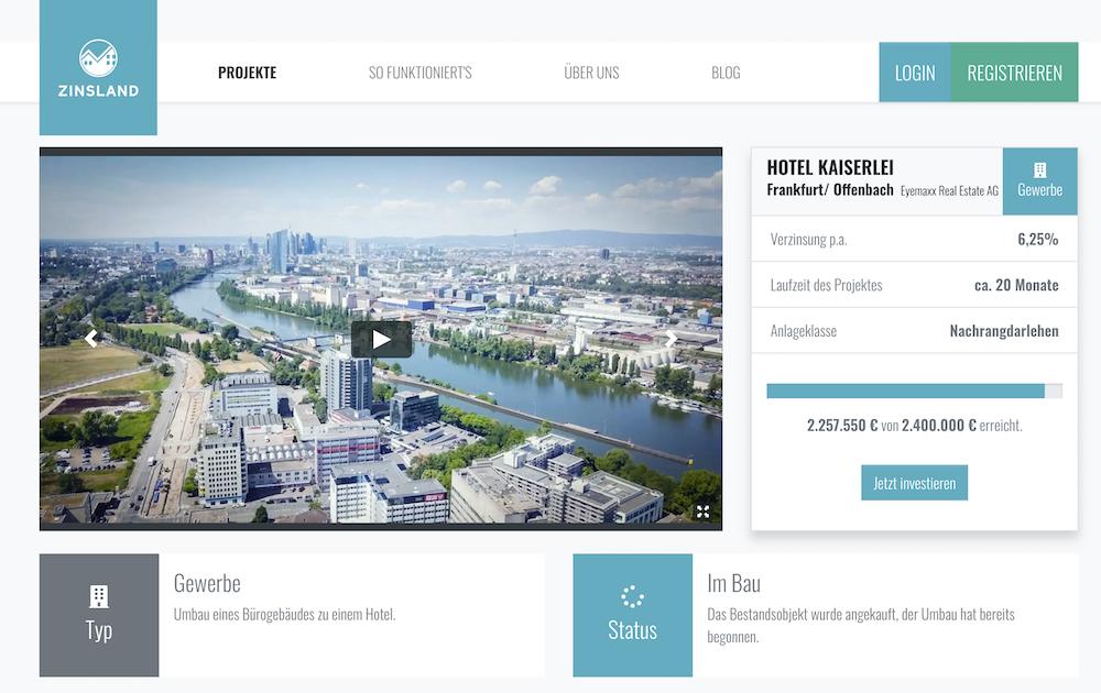 Zinsland Projektbeschreibung Hotel Kaiserlei