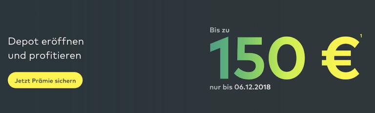 Die Neukunden-Depotprämie beträgt bei comdirect bis zu 150,00 Euro