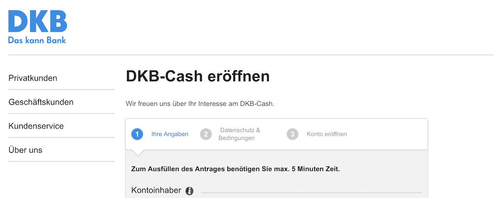 DKB Cash Girokonto Antrag