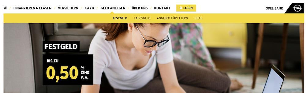 Opel Bank Festgeld