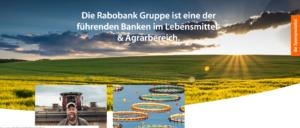 Die Rabobank ist eine der führenden Banken im Lebensmittel & Agrarbereich